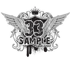 Grunge Heraldry Wings Vector Graphic - http://www.welovesolo.com/grunge-heraldry-wings-vector-graphic/