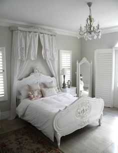 Romantic Shabby Chic Bedroom Decor And Furniture Ideas 53 Shabby Chic Master Bedroom, Shabby Chic Bedroom Furniture, Shabby Chic Living Room, Shabby Chic Interiors, Shabby Chic Homes, Shabby Chic Decor, Bedroom Decor, Bedroom Ideas, Bedroom Seating