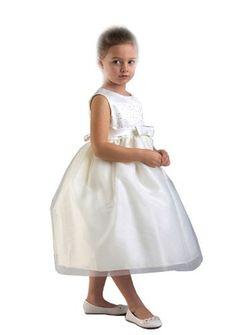 Zoe Princess White or Ivory Flower Girl Party Dress with 9 Sash Colors Fancy Dress Color: Ivory Dress Size: Size 5-6 Greatlookz,http://www.amazon.com/dp/B00CE04KAK/ref=cm_sw_r_pi_dp_.qRHrb92D5C04589