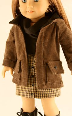 "This American Girl 18"" Doll winter outfit is so cute."