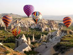 hot air ballooning in Capaddocia is a must to view this magnificent landscape | by Durukos Yachting