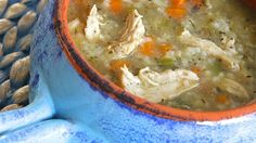 Chicken and rice are simmered in a tarragon-infused broth creating a warm and comforting soup perfect for cold evenings.