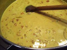 Reje-/ferskensuppe med karry…………. Testet og super god!!