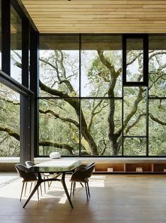 beton glasfront natur tisch zwischengeschoss stahlplatten #traumhäuser #unique #facade #dreamhome