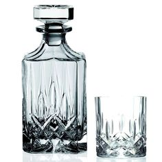 7 Piece Crystal Decanter Whiskey Set New Free Shipping