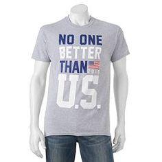 "Men's ""No One Better Than U.S."" Tee Mens Patriotic Shirts, Kohls, Graphic Tees, Celebrities, Box Store, Clothes, Women, Trends, Big"