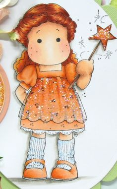 copic coloring of the dress is very cute...