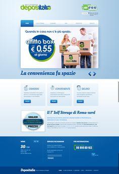 Depositalia Self Storage #webdesign by Paolo Prosperi, via Behance #joomla