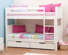 The stylish Stompa Classic bunk beds with drawers are a solid pine bunk bed in a stylish solid white finish £464