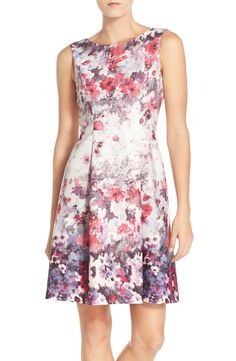 Adrianna Papell Floral Print Fit