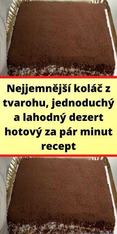 Czech Recipes, Good Food, Homemade, Sweet, Halloween, Fitness, Candy, Home Made