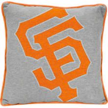 San Francisco Giants Big Logo Reverse Applique Pillow - Ash/Orange lucas