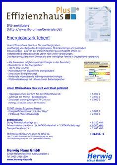 Jetzt neu bei uns: Mit dem #Effizienzhaus Plus endlich #Energieautark leben! Mehr Informationen gibt es unter: www.herwig-haus.de