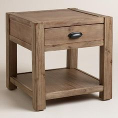 I am thinking these side tables would be good against the brick wall. I would just do two of them, and then do the metal ones, or something different across the room.