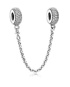 Pandora Safety Chain - Pave Inspiration, Sterling Silver & Cubic Zirconia