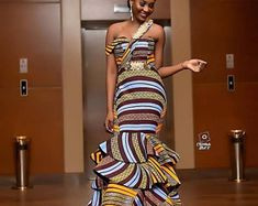 This Stylish Ankara Mermaid Dress, Ankara Dress, African dress is just one of the custom, handmade pieces you'll find in our dresses shops. Ankara Gown Styles, Latest Ankara Styles, Ankara Dress, Ankara Fabric, African Fabric, Ankara Gowns, Dress Skirt, African Inspired Fashion, African Print Fashion