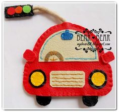 Felt Car ...key ring?