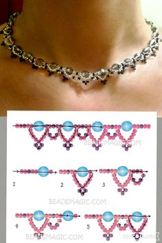 Some tips for choosing diamond earrings - Fine Jewelry Ideas - Best Seed Bead Jewelry 2017 – Craft ideas 5594 – Perlenketten – - Diy Jewelry Tutorials, Beading Tutorials, Beading Patterns, Jewelry Crafts, Handmade Jewelry, Jewelry Ideas, Jewelry Box, Free Seed Bead Patterns, Embroidery Patterns