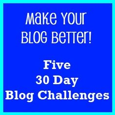 The Shopping Duck - Make Your Blog Better-Five 30 Day Blog Challenges