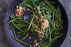 Pan-Roasted Green Beans With Golden Almonds by Jean-Georges Vongerichten http://cooking.nytimes.com/recipes/1015483-pan-roasted-green-beans-with-golden-almonds