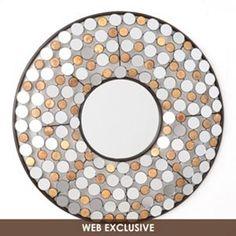 Jeweled Doll Wall Mirror, 20x20