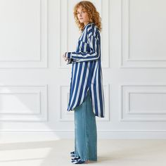 STRIPED VISCOSE TUNIC - See all - Women's Loungewear - Loungewear   Zara Home Malta