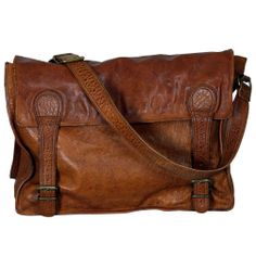 Tan Gustaf vintage leather bag - hardtofind.