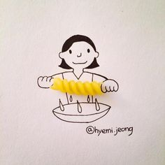 Using Everyday Objects, Creative Illustrator Completes A Fun Series Of Doodles - DesignTAXI.com