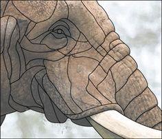 elephants face design pattern