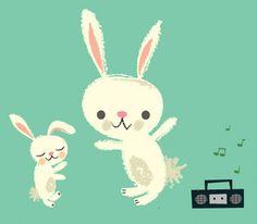 rabbit dance party by seamripper, via Flickr