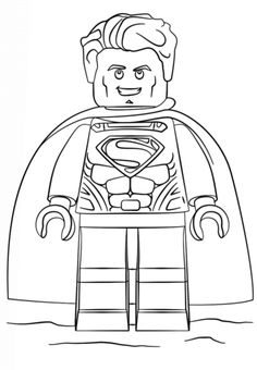 Print Lego Superman Coloring Pages Spiderman