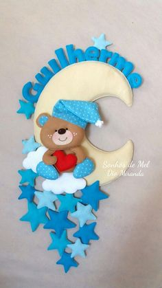 Paper Flower Patterns, Felt Crafts Patterns, Bear Felt, Felt Baby, Foam Crafts, Diy And Crafts, Crafts For Kids, Sewing Toys, Baby Sewing