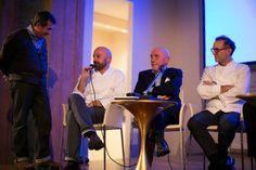 Massimo Bottura (Osteria la Francescana) Niko Romito (Ristorante Reale) Gianluca Farinelli ( direttore CINETECA) Fausto Arrighi (Ex-direttore Guida Michelin)