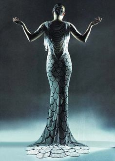 Alexander McQueen for Givenchy Fall/Winter 1998/1999 Haute Couture..what a mermaid would wear...