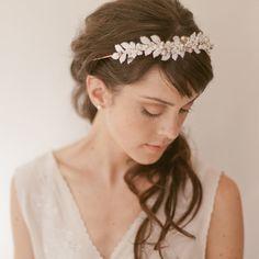 Bridal headpiece tiara  Enamel Vine by EricaElizabethDesign, $355.00