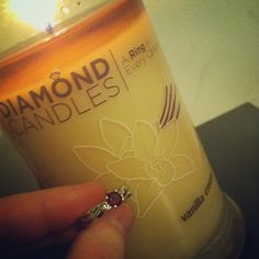 Oh, Vanilla Cream! What a cute ring that was found inside this candle. :)