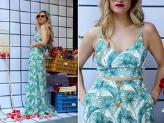 "Do tropical for the win!!! Feauting ""Lola"" top and ""Azalea"" maxi skirt. #karavanclothing #karavan #karavangirl"