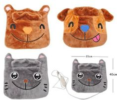 Multifunction Heater Cartoon Electric Heating Pad Instant Warmer Cushion J0539 by Health & Beauty. $40.29. Size & Measurement 40cm(Length) X 35cm(Width) X 1.5cm(Thickness)   Product Details   100% Brand New     Ideal for kids, Grown ups, Elder man, Pets or anyone.    Available warm up in your foot, the knee, the buttocks, the waist, the abdomen, the back, the cervical   vertabera, the hand and so on.    The interior is a giving off heat pad.  Temperature contro...