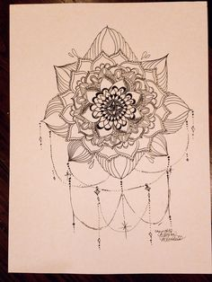 Chandelier Mandala Print by MorgansCanvas on Etsy, $15.00