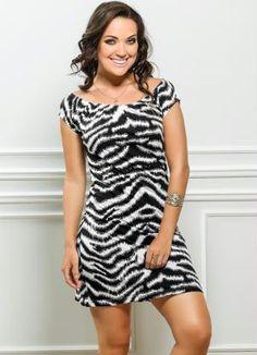 Vestido Estampa Zebra - Posthaus