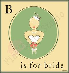 B is for Bride   Inkscape illustration using the paint bucket tool.