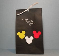 Mickey Mouse Favor Bags  Set of 10  Thank you by PinkPupsDesigns, $8.50