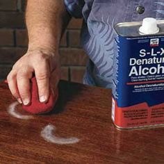 water stain denatured alcohol and other repairs on anything wooden!