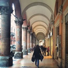 It was raining when we left Bologna for Modena today, but in a city full of porticos you can shop and almost always stay dry - Instagram by livesharetravel