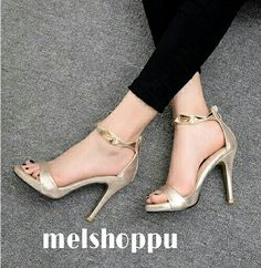 Gold heels  Idr 250k  Size from 35