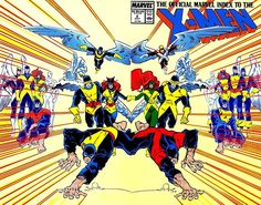 The Official Marvel Index To The X-Men #2 cover by John Romita Jr. & Al Williamson