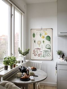 The 21 Best Small Kitchen Ideas of All Time - Apartment inspiration - Apartment Decor Little Kitchen, Eat In Kitchen, Kitchen Ideas, Kitchen Small, Kitchen Nook, Kitchen Table Small Space, Small Dining Area, Small Apartment Kitchen, Ideas For Small Kitchens