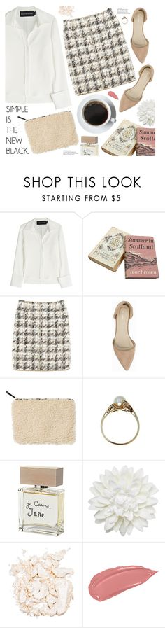 """""""simple is the new black"""" by valentino-lover on Polyvore featuring Brandon Maxwell, Louis Vuitton, Nly Shoes, Monki, Bella Freud and Stila"""