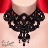 Absinthe Venezia Lace Choker by ~ArtOfAdornment on deviantART
