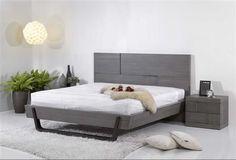 Sydney Grey Wood Platform W/O Storage King Size Bed